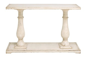 "White 48"" Console Table"
