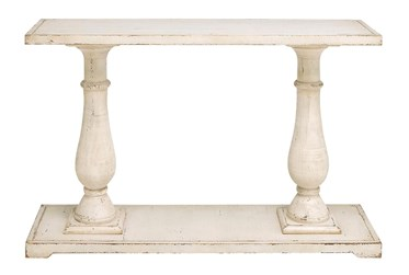 """White 48"""" Console Table"""