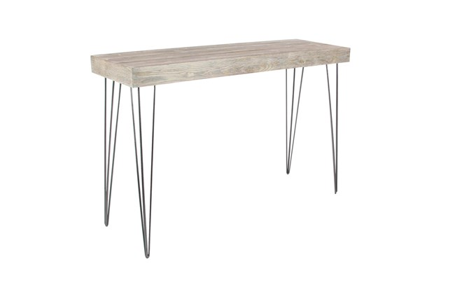"Metal And Wood 47"" Console Table - 360"