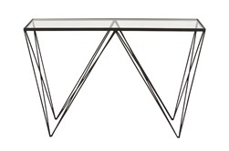 "Metal And Glass 46"" Console Table"