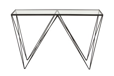 """Metal And Glass 46"""" Console Table"""