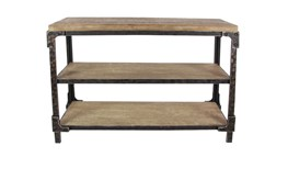 "Wood And Metal Industrial 48"" Console Table"