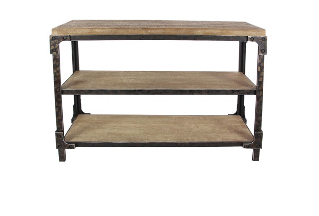 """Wood And Metal Industrial 48"""" Console Table - 360"""