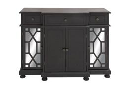 Black 4 Door Mirrored Cabinet