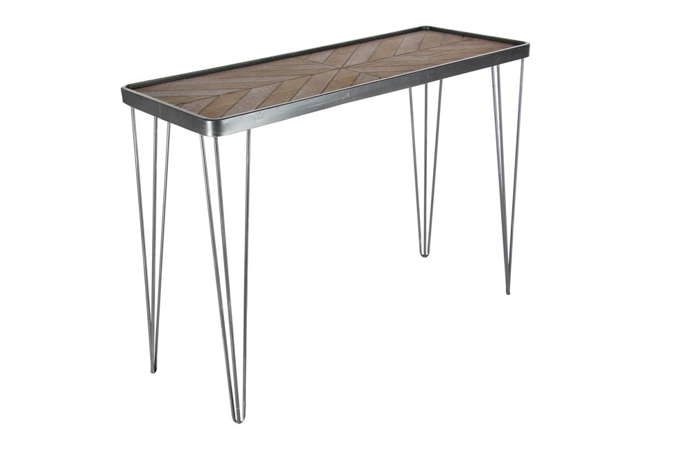 "Metal And Wood 39"" Console Table"