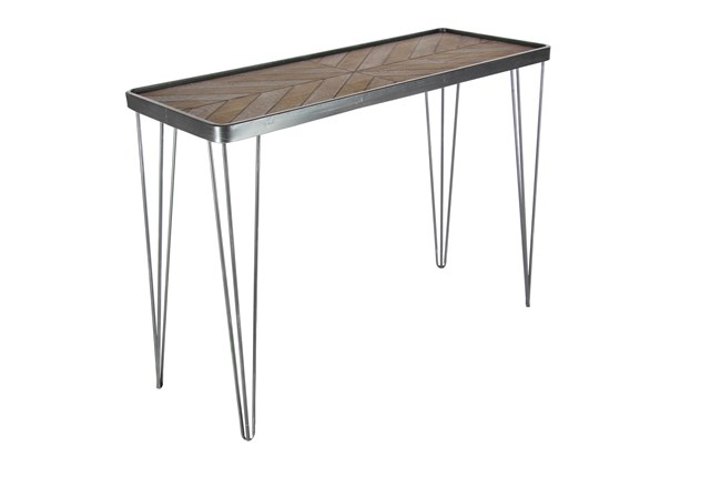 "Metal And Wood 39"" Console Table - 360"