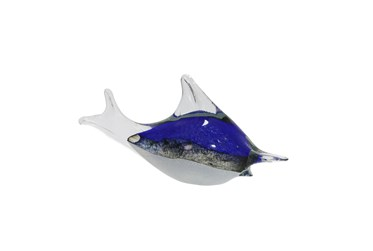 11 Inch Blue Fish Decor, Blue