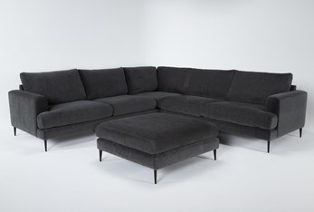 Giada Encore 3 Piece Sectional With Cocktail Ottoman