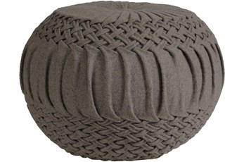 Pouf-Grey Felted