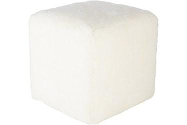 Pouf-White Sheepskin