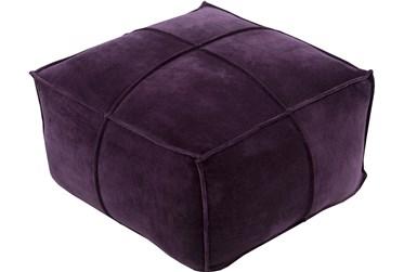 Pouf-Purple Velvet