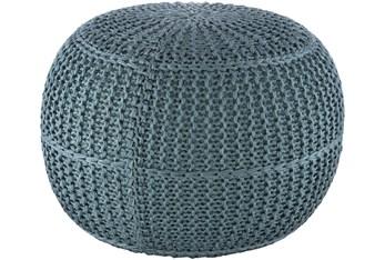 Pouf-Aqua Knitted