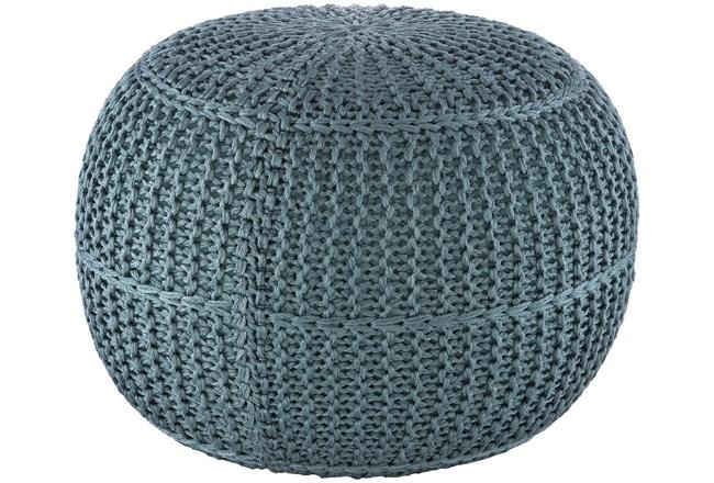 Pouf-Aqua Knitted - 360