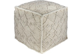 Pouf-Charcoal Diamond Textured