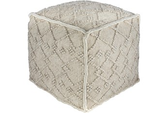 Pouf-Charcoal Diamond Textured
