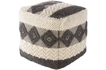 Pouf-Charcoal White High/Low