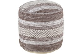 Pouf-Camel Beige Stripe