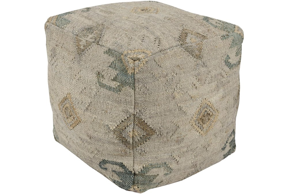 Pouf-Multicolored Jute