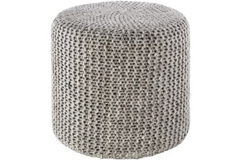 Pouf-Grey Knitted