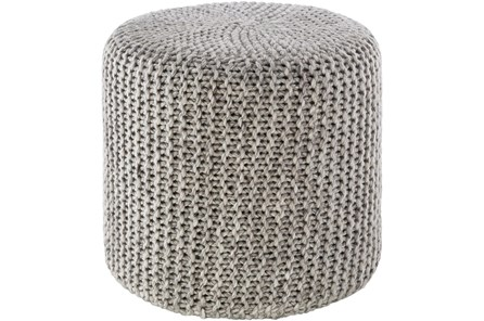 Pouf-Grey Knitted - Main