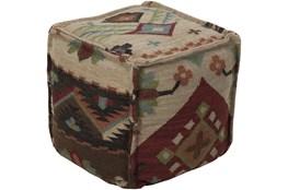 Pouf-Multicolor Aztec