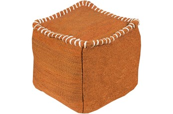 Pouf-Orange Overstitch