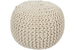 Pouf-Tan Knitted