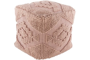 Pouf-Rose Textured