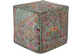 Pouf-Multicolored Hand Knotted