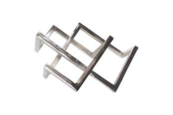 15 Inch Silver Geometric Decor