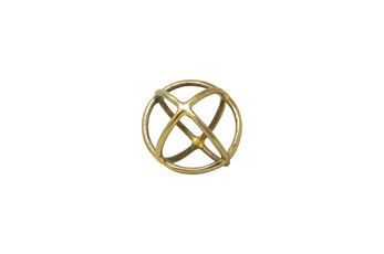 7 Inch Gold Metal Orb