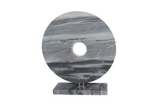 6 Inch Gray Marble Bowl With Base