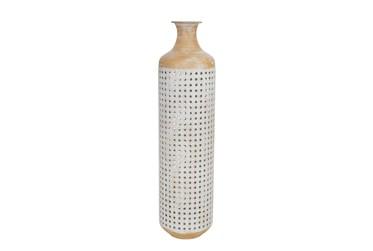 26 Inch 2 Tone White Vase