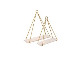 Hanging Gold Metal Planter Set Of 2