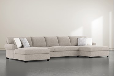 """Brody 3 Piece 170"""" Sectional With Double Chaise"""