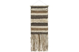 Wall Tapestry-Textured Fringe Natural 24X70
