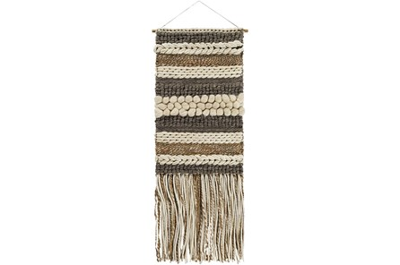 Wall Tapestry-Textured Fringe Natural 24X70 - Main