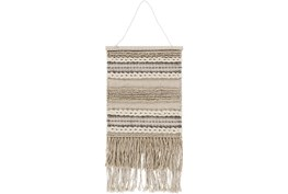 Wall Tapestry-Woven Fringe Natural 17X23
