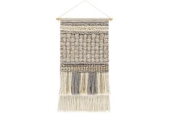 Wall Tapestry-Basketweave Khaki Grey 19X32