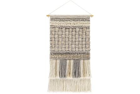 Wall Tapestry-Basketweave Khaki Grey 19X32 - Main