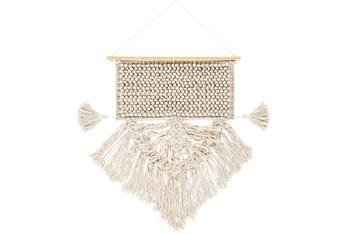 Wall Tapestry-Fringe Tassels Cream 19X28