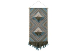 Wall Tapestry-Woven Fringe Green Blue 30X60