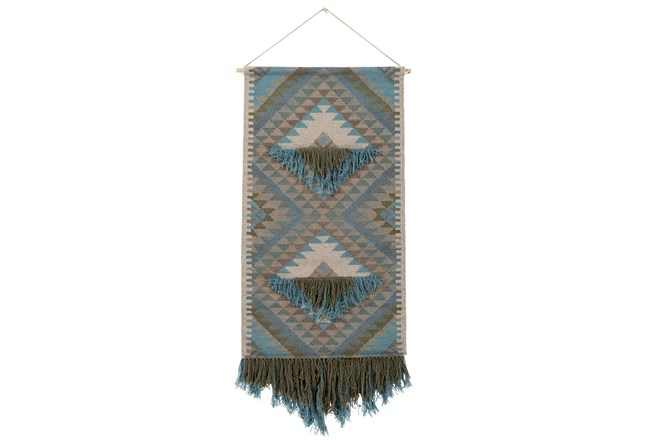 Wall Tapestry-Woven Fringe Green Blue 30X60 - 360