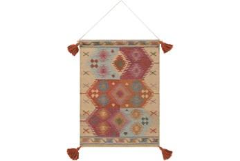 Wall Tapestry-Tassels Brick Khaki 24X36