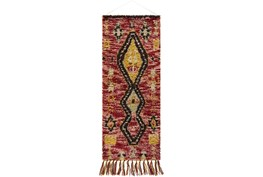 Wall Tapestry-Diamond Red Brown 24X63