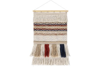 Wall Tapestry-Woven Overstitch Multicolor 20X32