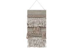 Wall Tapestry-Overstitch Fringe Natural 22X44