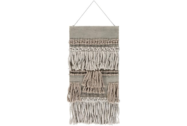 Wall Tapestry-Overstitch Fringe Natural 22X44 - 360