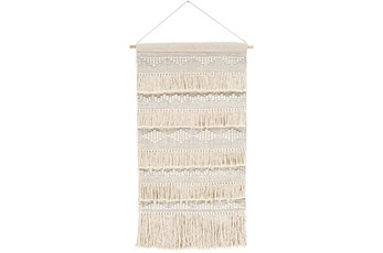 Wall Tapestry-Woven Ivory Beige 24X36