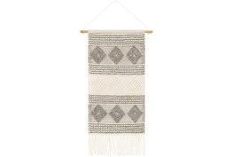 Wall Tapestry-High Low Charcoal White 22X44